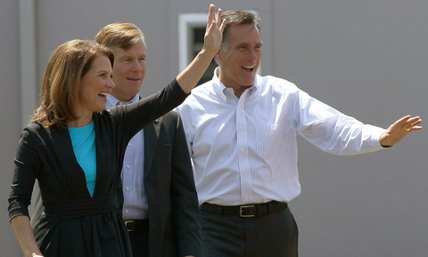 Rep. Michele Bachmann, Virginia Gov. Bob McDonnell and Mitt Romney; photo b Win McNamee/Getty Images