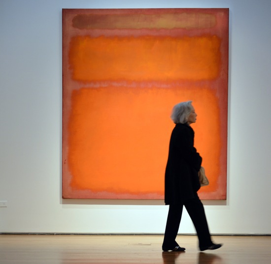 Mark Rothko's 'Orange, Red, Yellow'; photo by Stan Honda/AFP/GettyImages