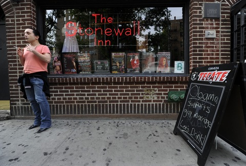 Stonewall Inn; photo by Timothy A. Clark/AFP/GettyImages
