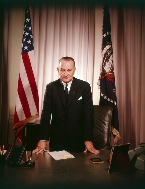 LBJ portrait by Yousuf Karsh