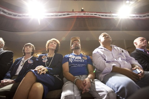 Mitt Romney supporters in Florida; photo by Edward Linsmier/Getty Images