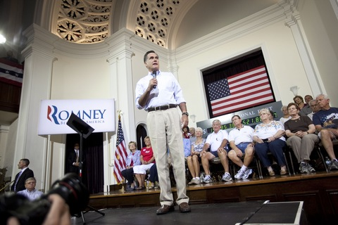 Mitt Romney; photo by Edward Linsmier/Getty Images