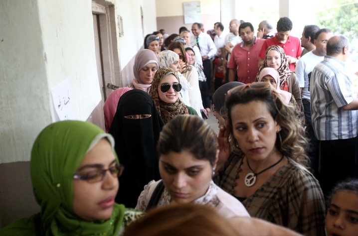 Voting in Cairo