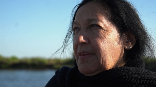 Theresa Dardar of the Pointe-au-Chien tribe NewsHour photo by Saskia de Melker
