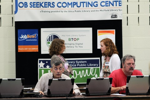 Job fair; photo by Spencer Platt/Getty Images