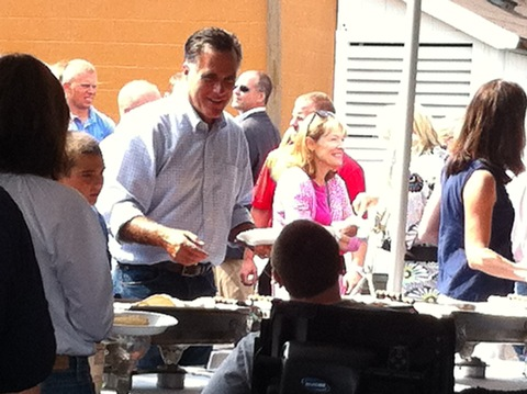 Mitt Romney; photo by Gwen Ifill/PBS NewsHour