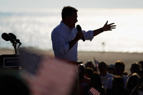 Mitt Romney; photo by Joe Raedle/Getty Images