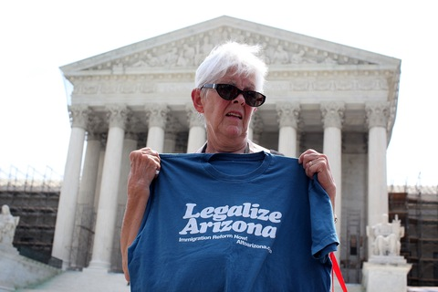 Supreme Court's Arizona law decision; photo by Alex Wong/Getty Images