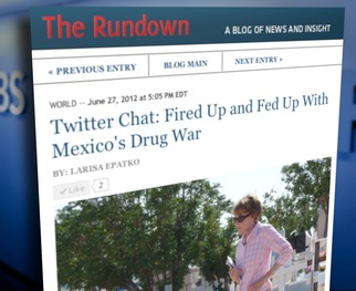 Margaret hosted a conversation on Twitter about Mexico, the U.S. and the Drug War. Read highlights here.