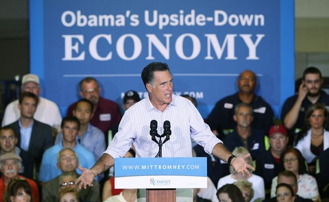 Mitt Romney; photo by Win McNamee/Getty Images