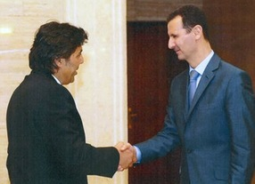 Mohamad Soueid and Bashar al-Assad