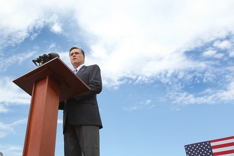 Mitt Romney; photo by Suzanne Kreiter/The Boston Globe via Getty Images