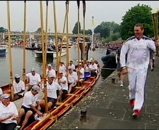 Independent Television News' Paraic O'Brien reports on the excitement and anticipation in London as the Olympic torch arrives in the host city for the London Games.