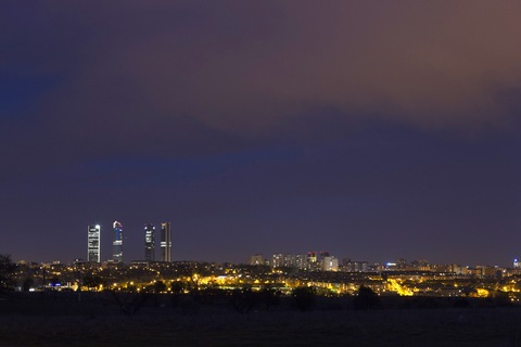 Night skyline of Madrid