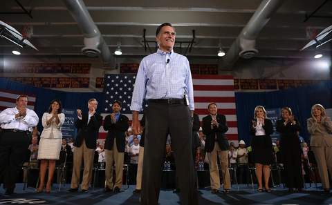 Mitt Romney; photo by Justin Sullivan/Getty Images