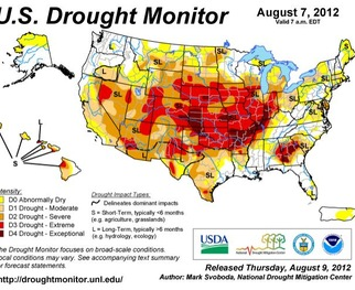 Check out a six-week animation of how drought conditions have worsened across the U.S.