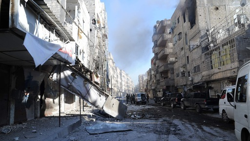 Damascus suburb of Tadamun, which was retaken by government troops on Aug. 4. Photo by AFP/Getty Images.