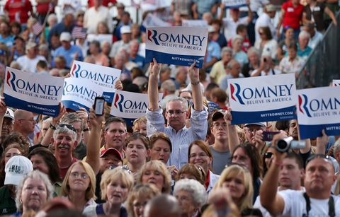 Mitt Romney supporters in Ohio; photo by Justin Sullivan/Getty Images