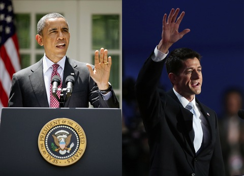President Barack Obama and Rep. Paul Ryan (R-Wis.)