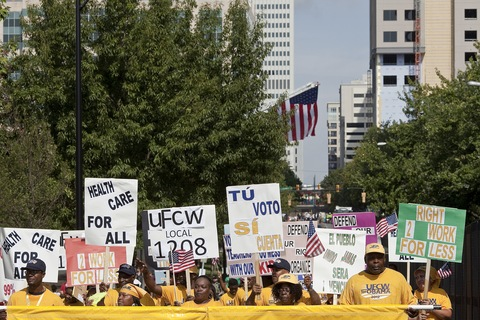 Charlotte Labor Day Parade; photo by Jared Soares for the PBS NewsHour