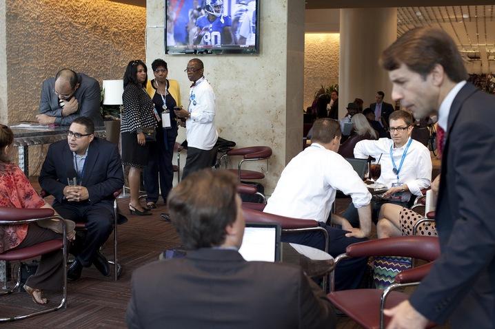 Delegates and Media