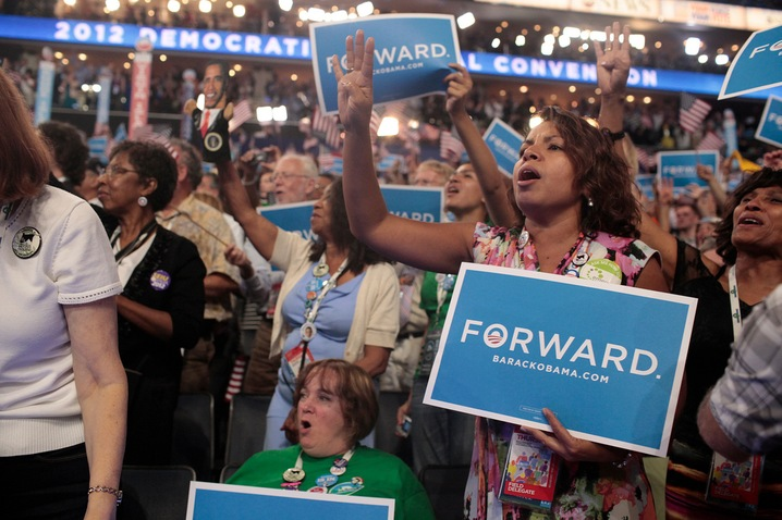 Delegates at the DNC