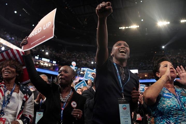 Delegates at the DNC
