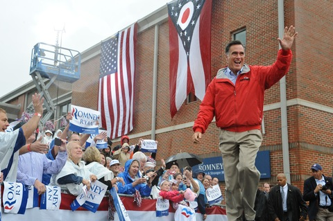 Mitt Romney; photo by Nicholas Kamm/AFP/Getty Images