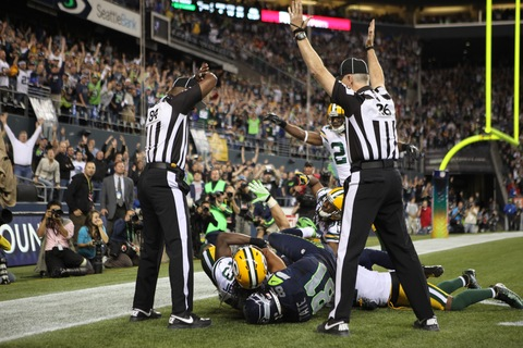 Controversial Call on Seahawk TD