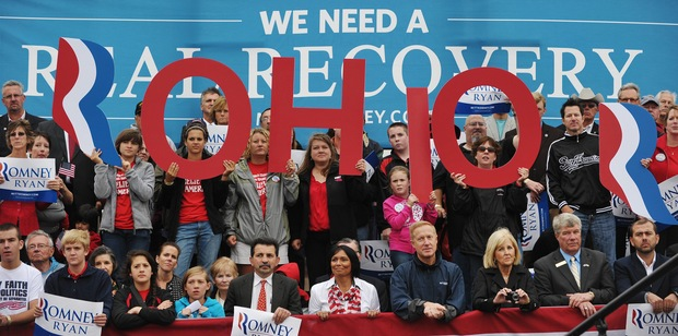 Romney supporters in Ohio; photo by Mandel Ngan/AFP/Getty Images