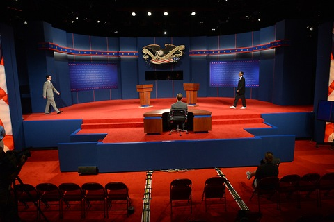 Debate Stage Setting