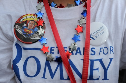 Mitt Romney supporter in Florida; photo by Jewel Samad/AFP/Getty Images