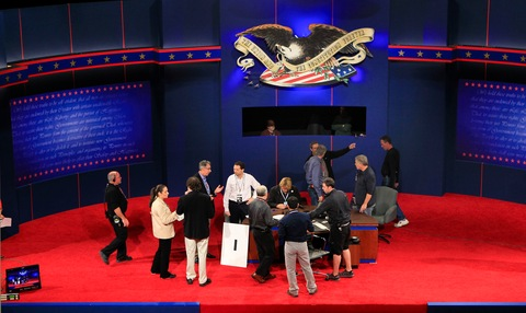 VP Debate Stage
