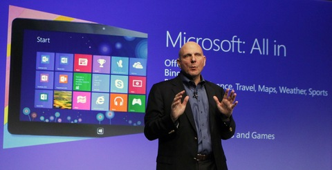 Steve Ballmer Talks Up Windows 8