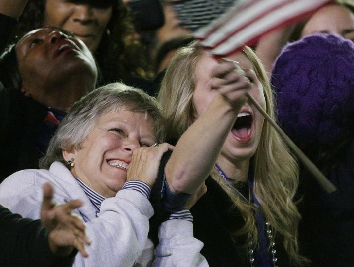 Obama Fans Celebrate