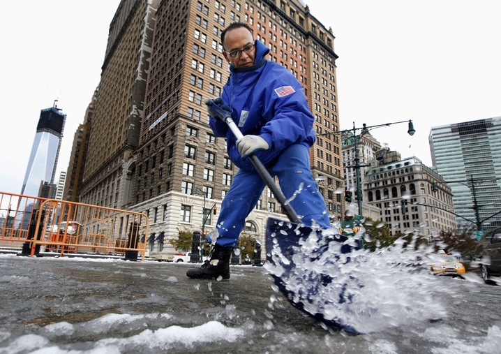 Clearing Snow in New York City