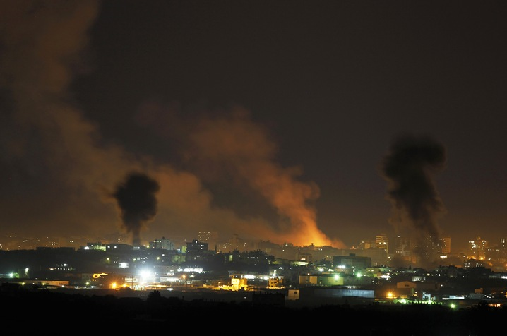 Night Air Strikes on Gaza