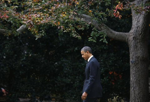 President Obama; photo by Larry Downing/Reuters