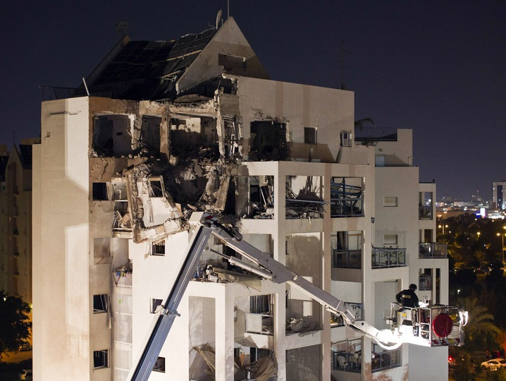 Surveying Hamas Rocket Damage