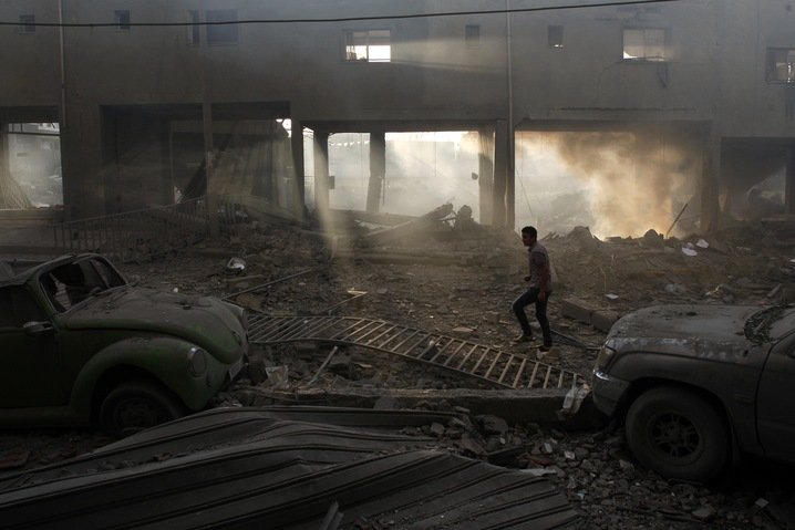 Soccer Stadium Bombed in Gaza