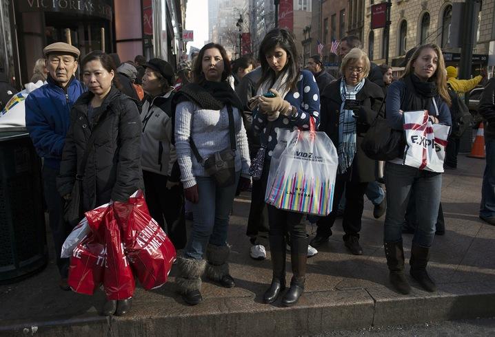 Street Full of Shoppers