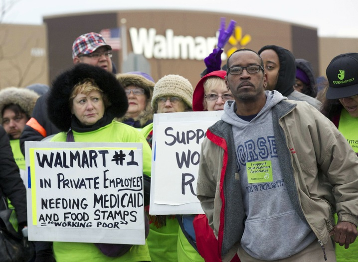 Protesting Against Walmart