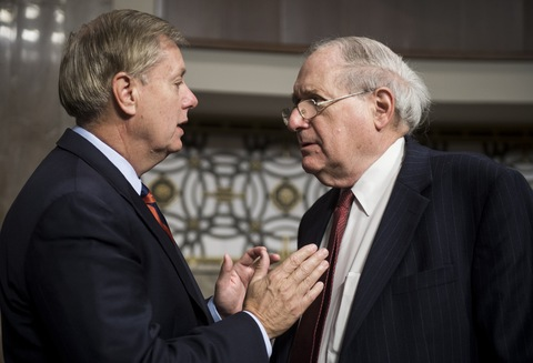 Sens. Lindsey Graham, R-S.C., and Carl Levin, D-Mich.; photo by Bill Clark/CQ Roll Call