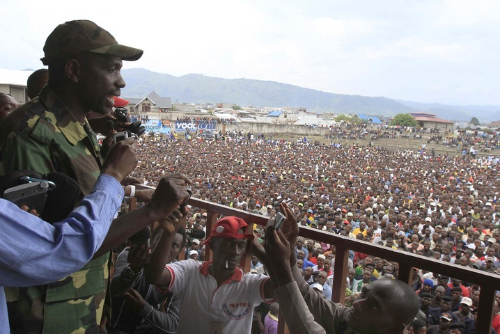 Rebels Speak to Goma Citizens