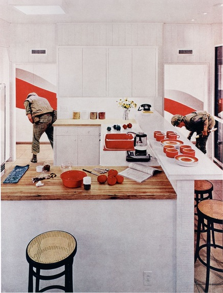 'Red Stripe Kitchen'