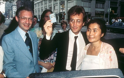 Leon Wildes, John Lennon and Yoko Ono