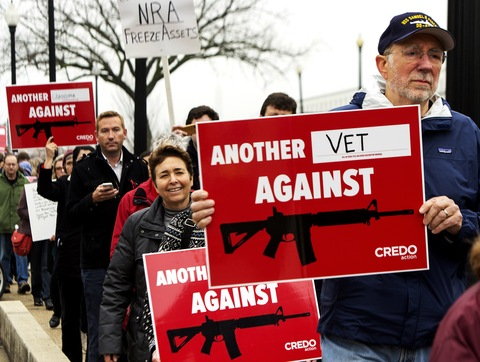 Protesters March Against Assault Weapons