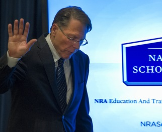 National Rifle Association Executive Vice President Wayne LaPierre made a statement Friday in reaction to last week's mass shooting at Sandy Hook Elementary school in Newtown, Conn.