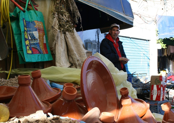 Tagines at Market