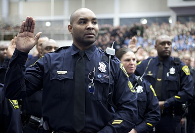 Taking the Oath: Officers Vow to Keep Inauguration Safe